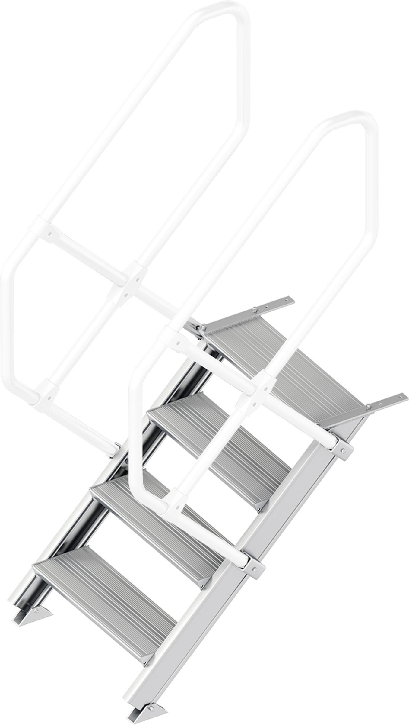 Layher Treppe 45° 4 Stufen - 600 mm breit