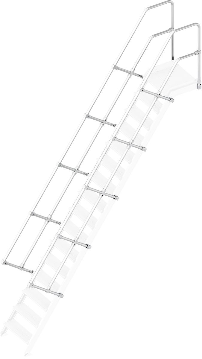Layher Handlauf Geländer Plattformtreppe 55° 16 Stufen