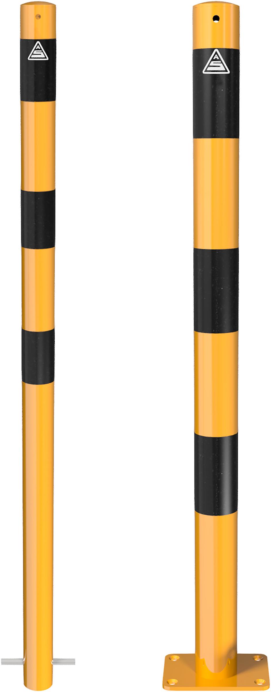 Schake Absperrpfosten Ø 60 mm gelb | schwarz