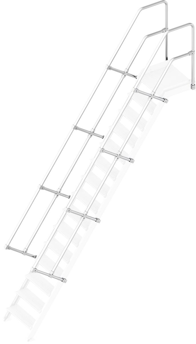 Layher Handlauf Geländer Plattformtreppe 55° 15 Stufen