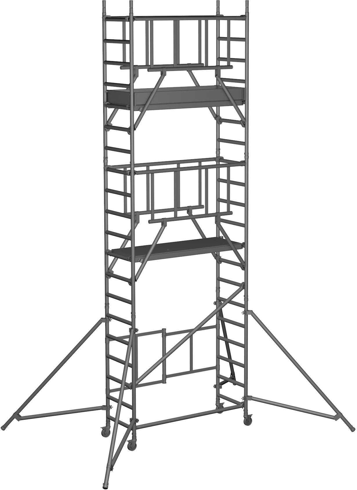 Klappgerüst ZARGES Reachmaster S-PLUS 1T - AH 6,55m