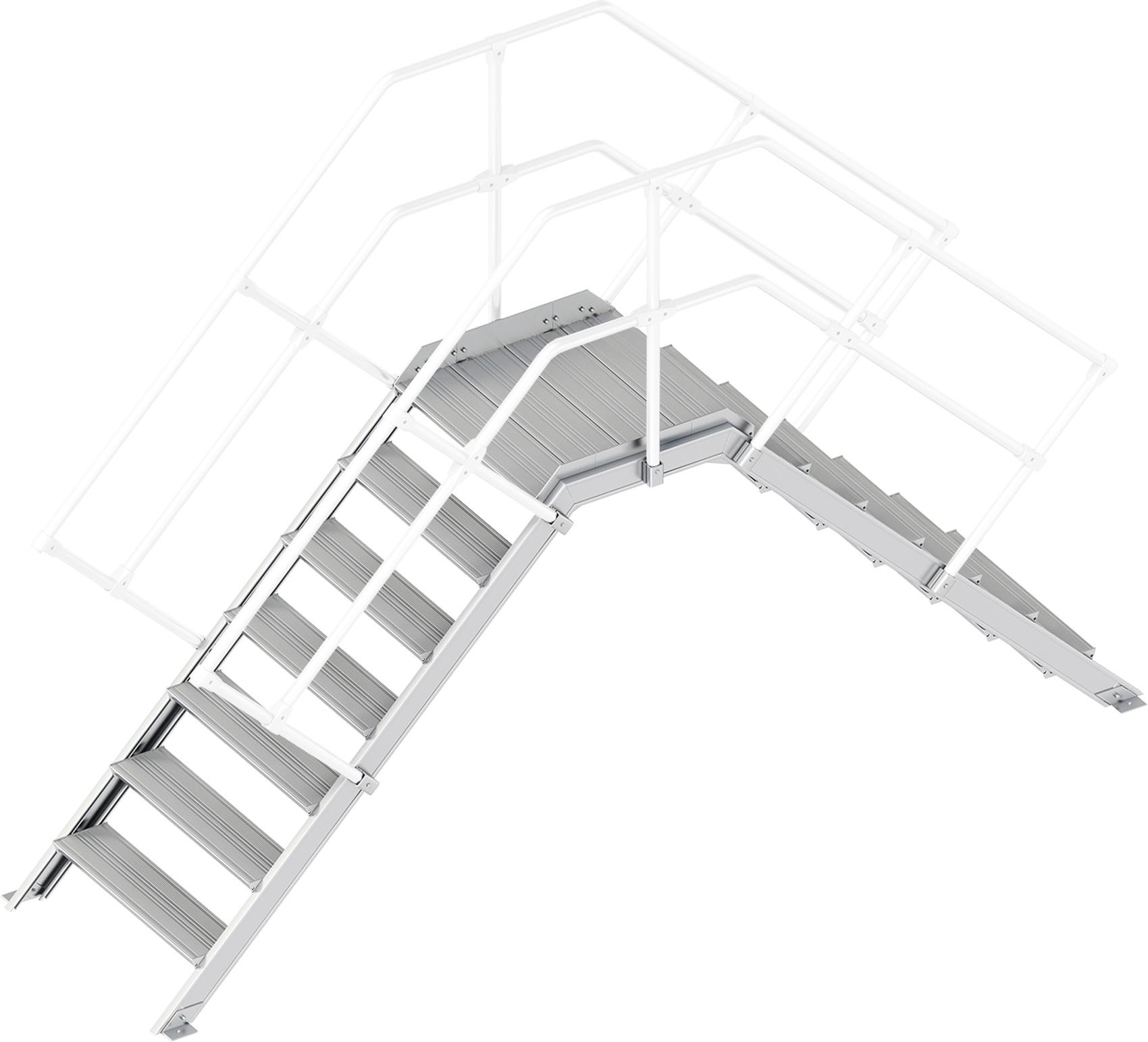 Layher Übergang 45° 7 Stufen - 800 mm breit