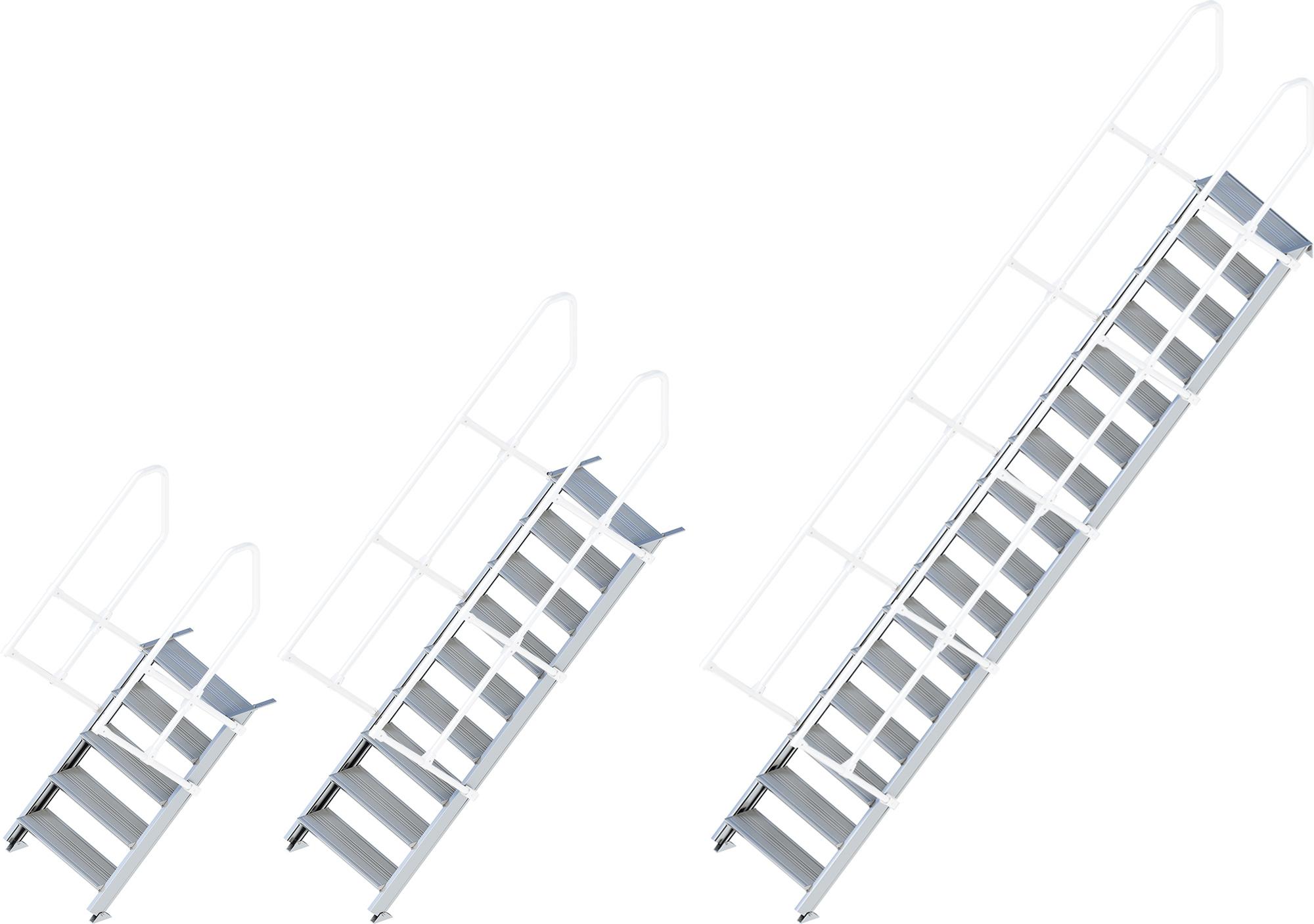 Layher Treppe 45° - 800 mm breit - ohne Handlauf