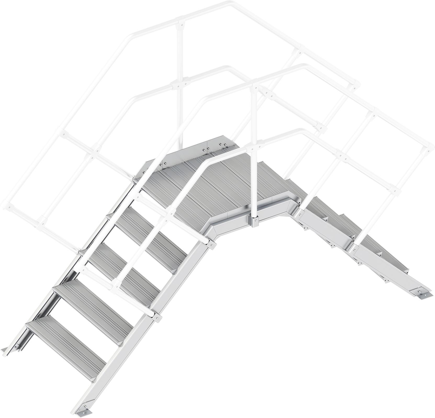 Layher Übergang 45° 5 Stufen - 800 mm breit