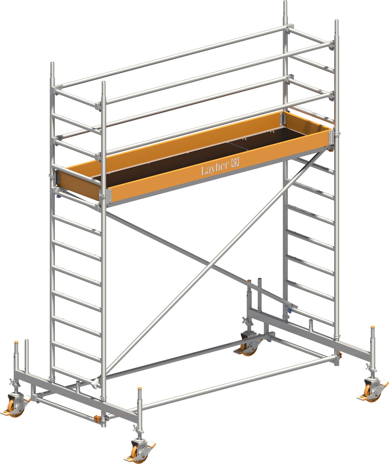 Fahrgerüst Layher Uni Standard 1102 mit Geländer-Optimierung