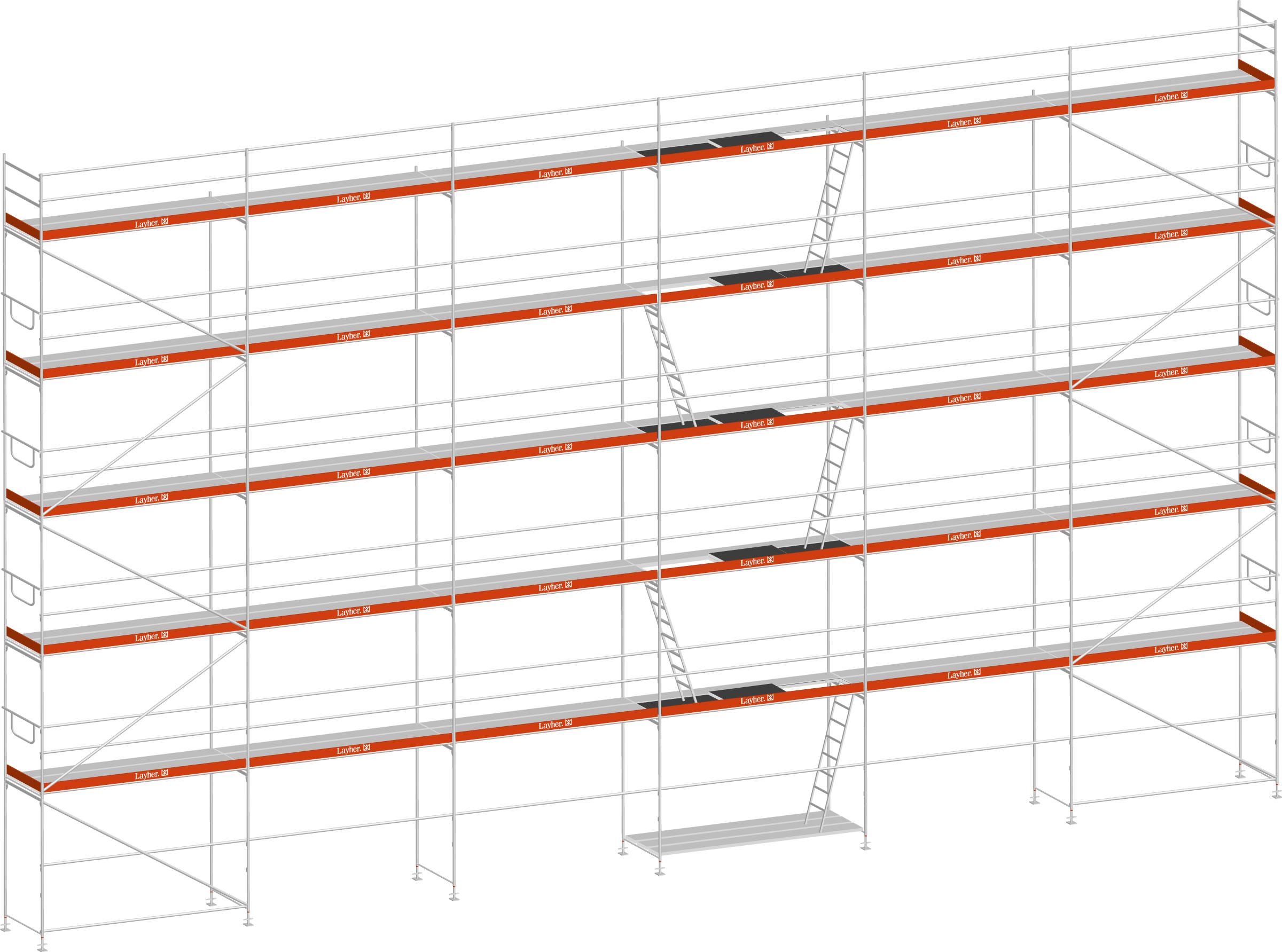 Layher Blitz Gerüst 100 Stahl 189 m²