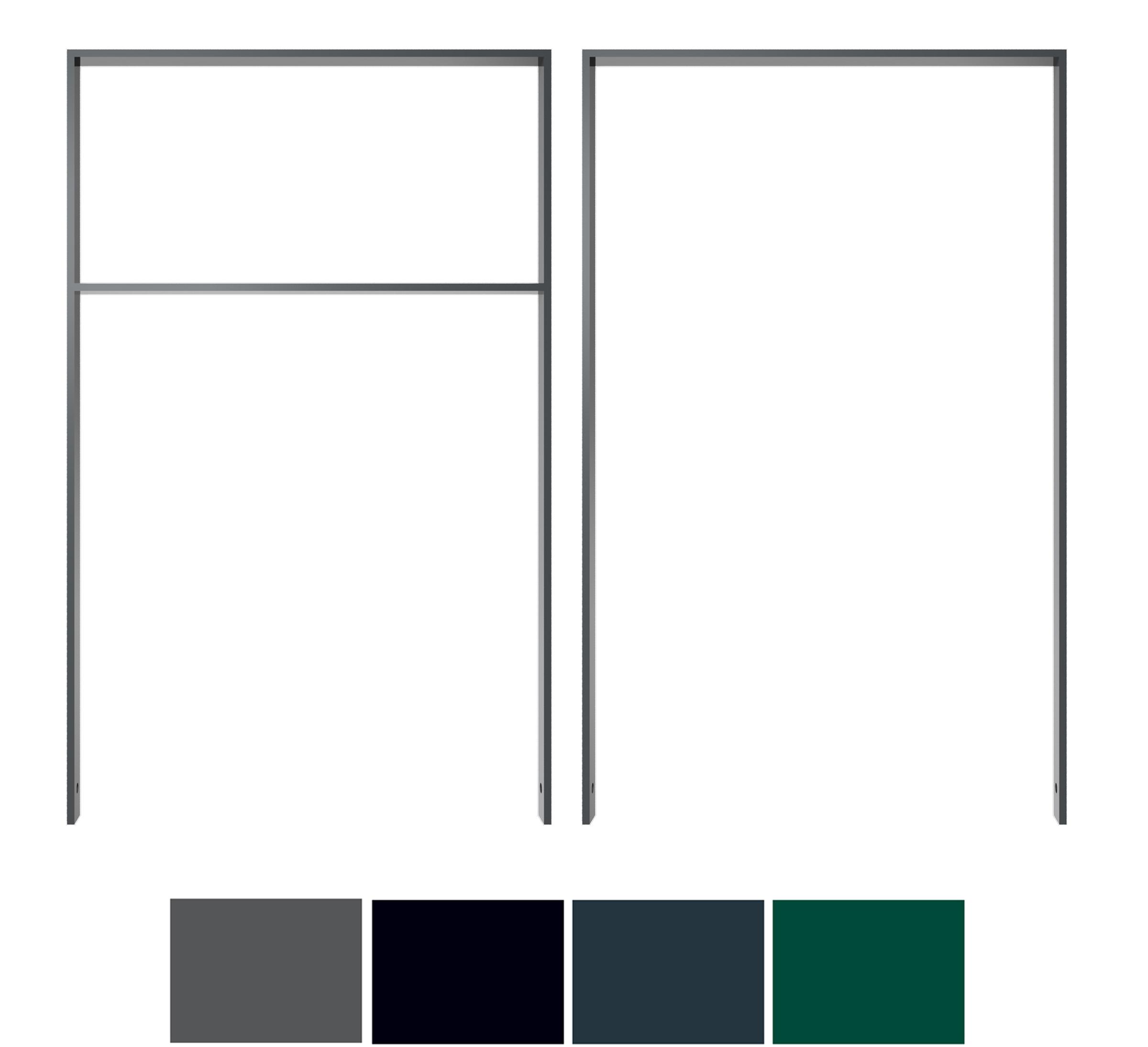 Schake Anlehnbügel Flachstahl 50 x 12 mm Sonderfarben