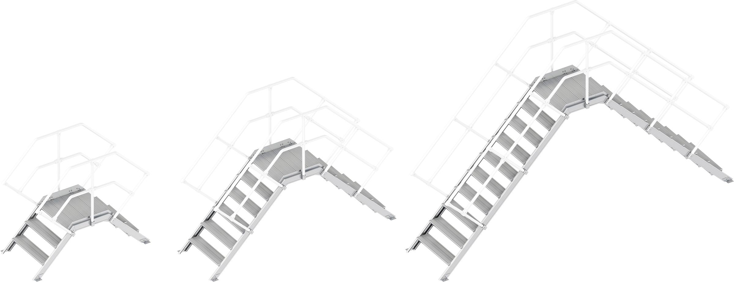 Layher Übergang 45° - 800 mm breit - ohne Handlauf