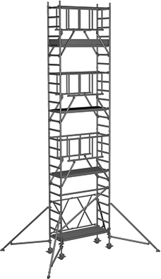 Klappgerüst ZARGES CompactMaster S-PLUS 1T - AH 8,50m