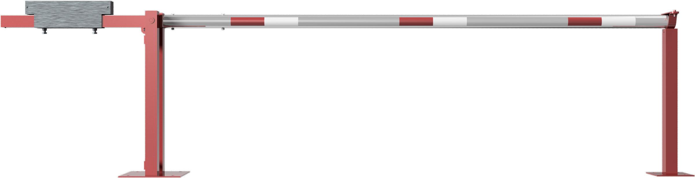 Schake Schranke mit Gegengewicht und Auflagestütze - Schrankenbaum Ø 80 mm