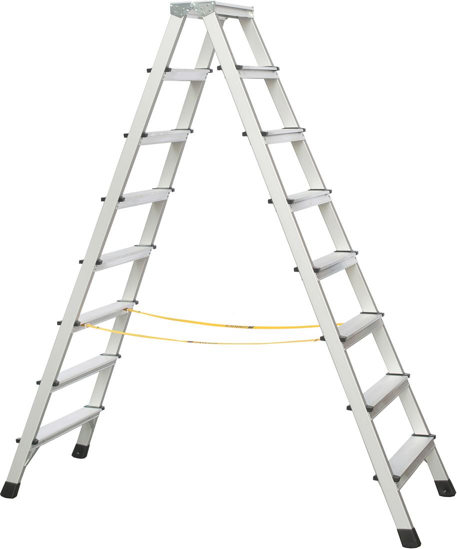 ZARGES Stufen Stehleiter XLstep B - 2x8 Stufen