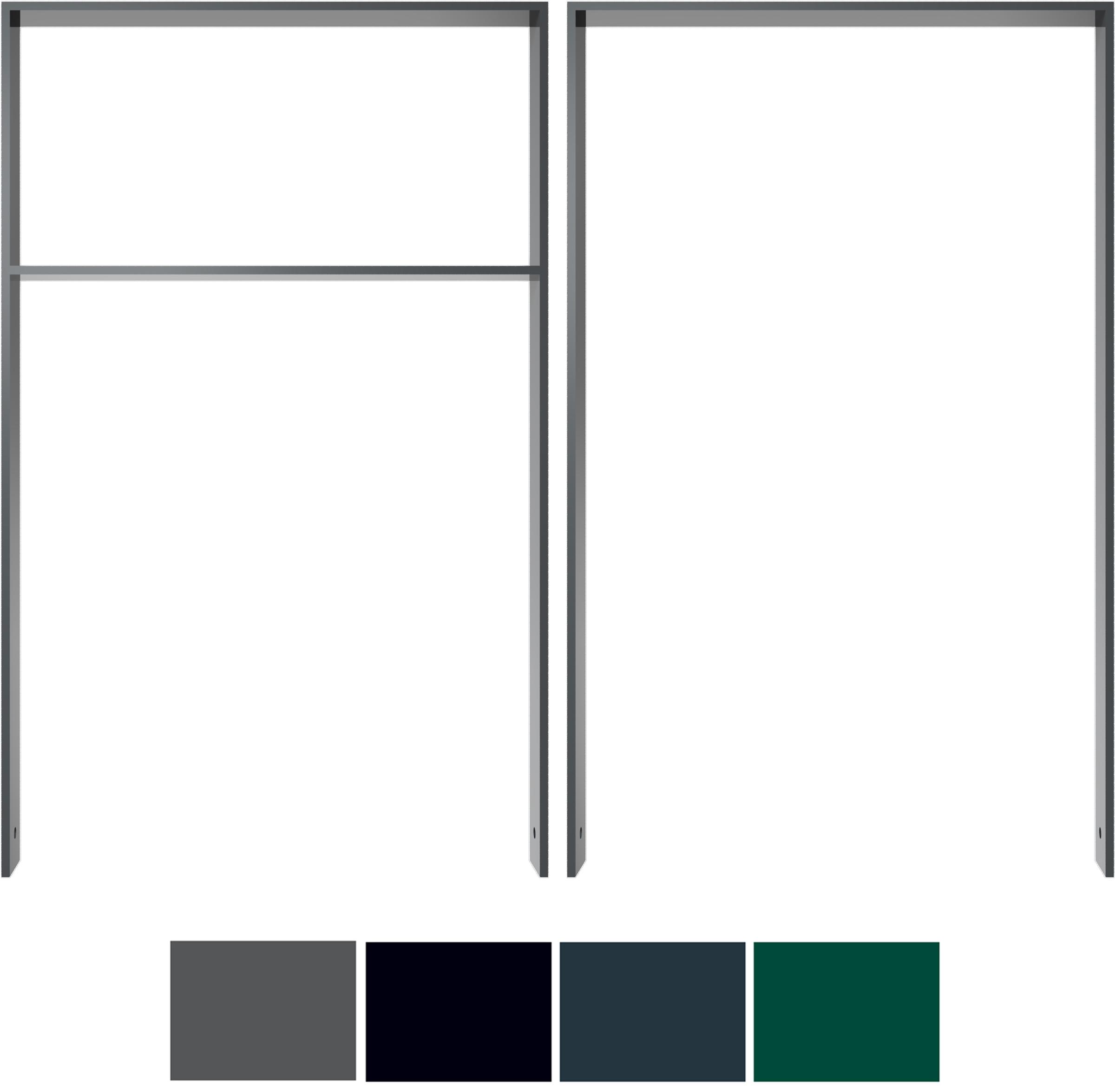 Schake Anlehnbügel Flachstahl 80 x 12 mm Sonderfarben