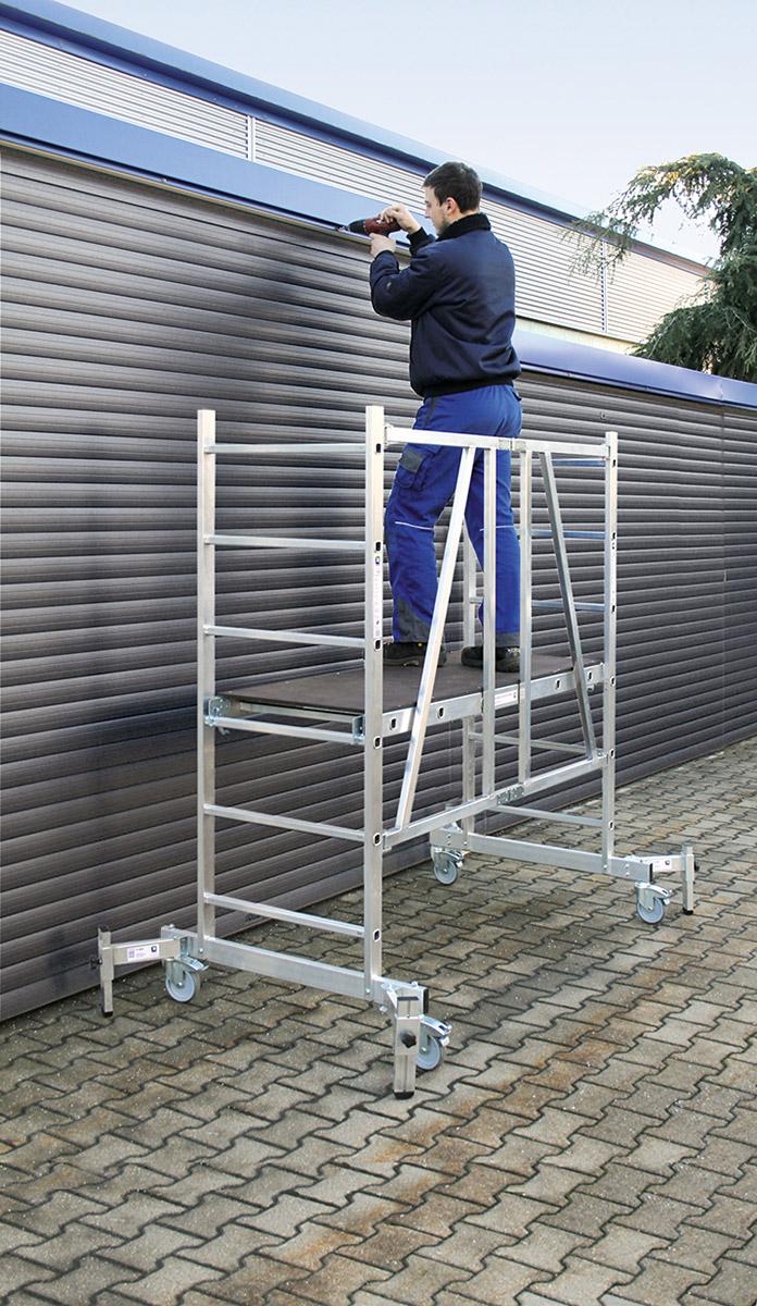 Günzburger ML Rollgerüst - Ausführung mit Auslegern