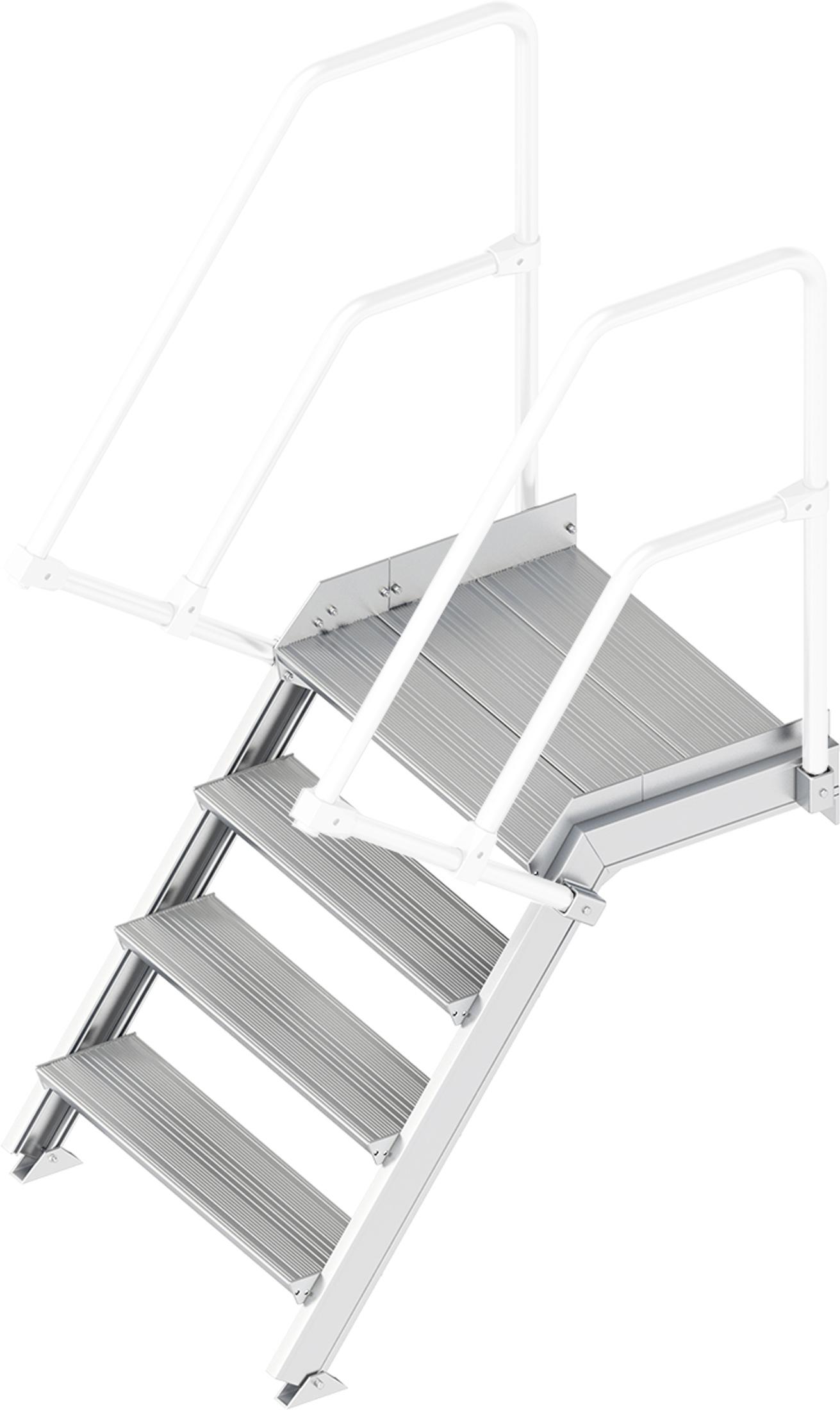 Layher Plattformtreppe 55° 4 Stufen - 800 mm breit