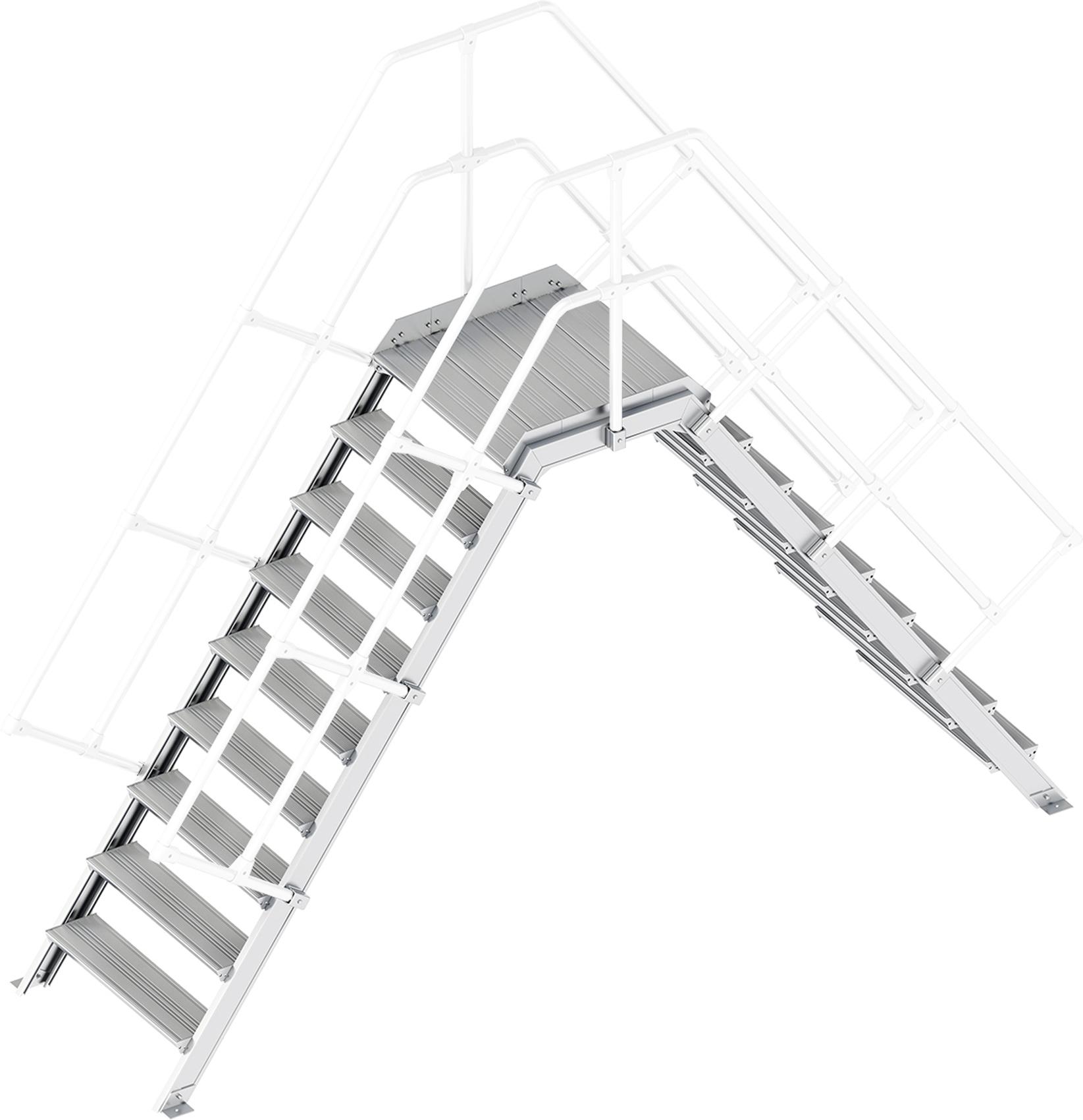 Layher Übergang 55° 9 Stufen - 800 mm breit