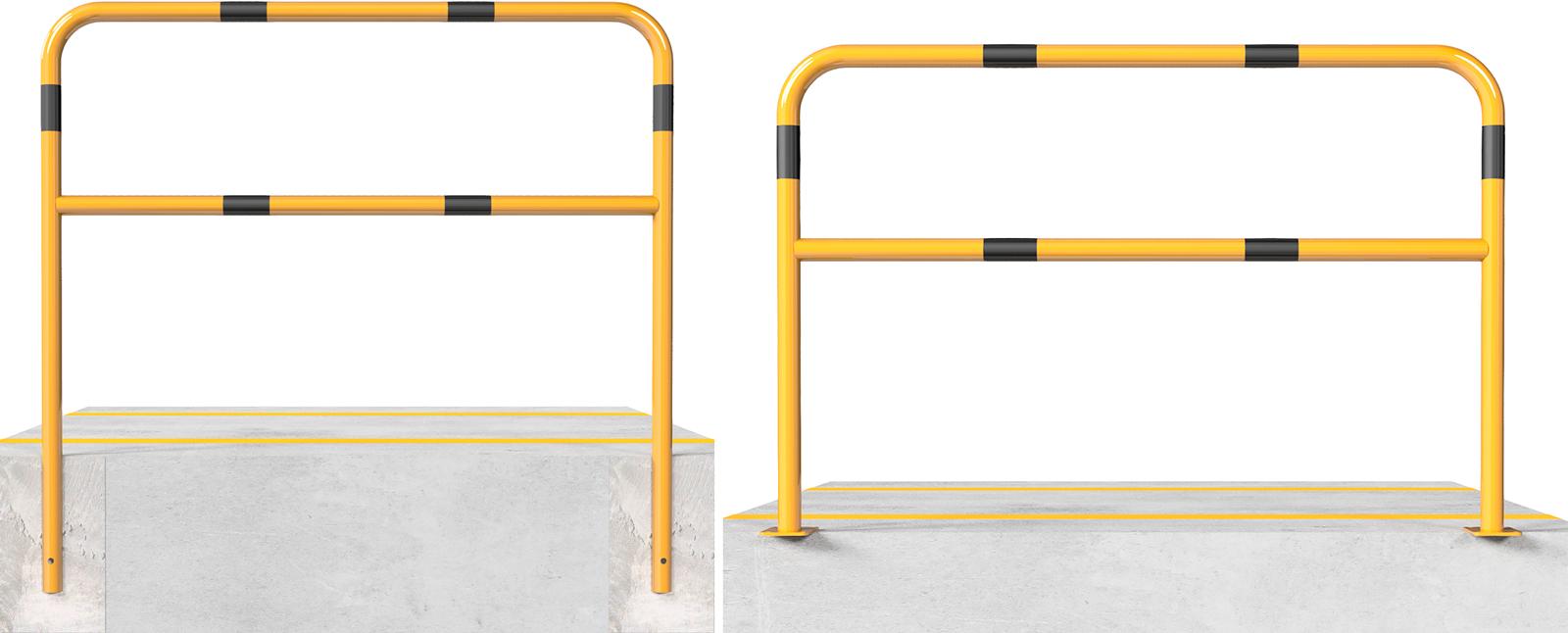 Schake Sperrbügel Stahl mit Knieholm Ø 48 mm gelb | schwarz