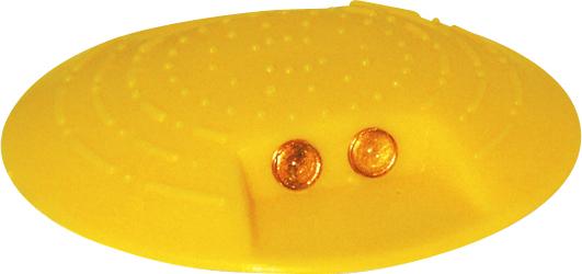 Schake Markierungsknopf Ø 120 mm Kunststoffknopf gelb zum Aufkleben - verschiedene Ausführungen (SK-C-39110) Bild-01