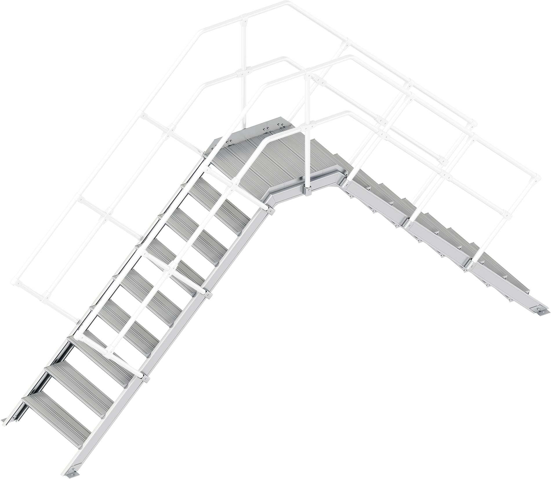 Layher Übergang 45° 9 Stufen - 800 mm breit