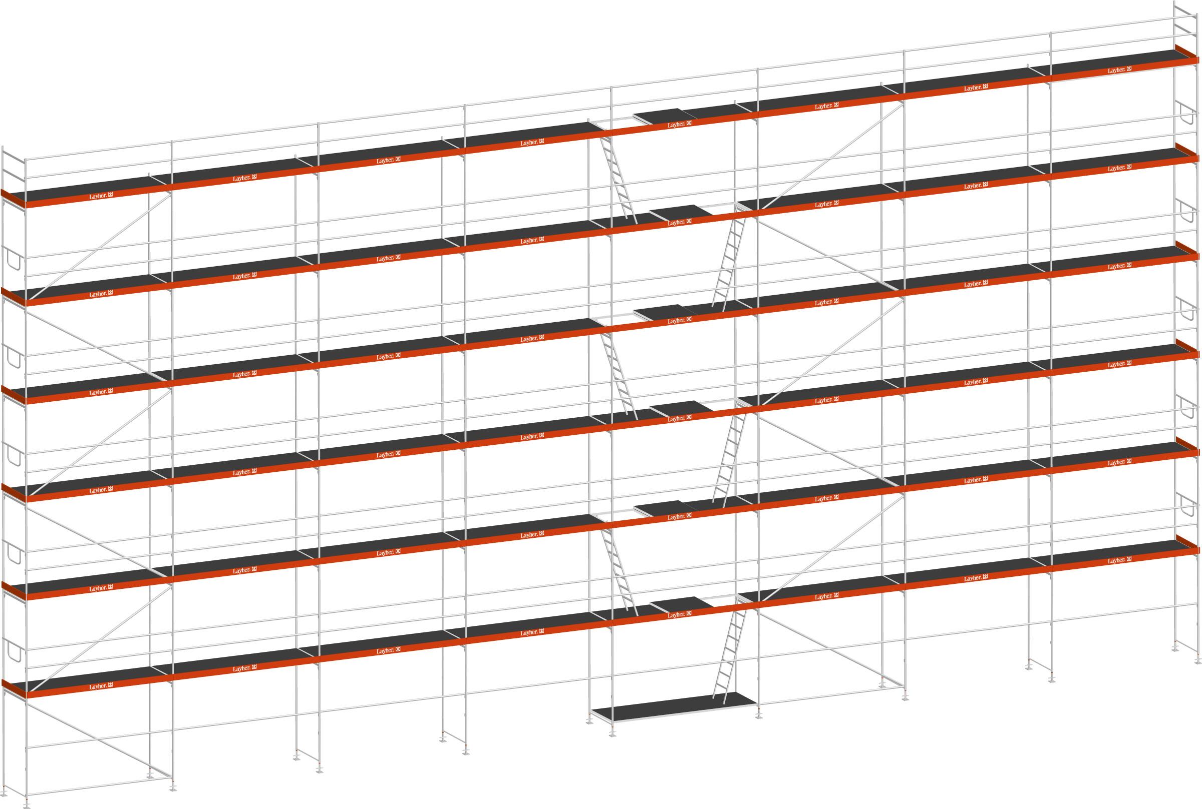 Layher Blitz Gerüst 70 Stahl 349 m²