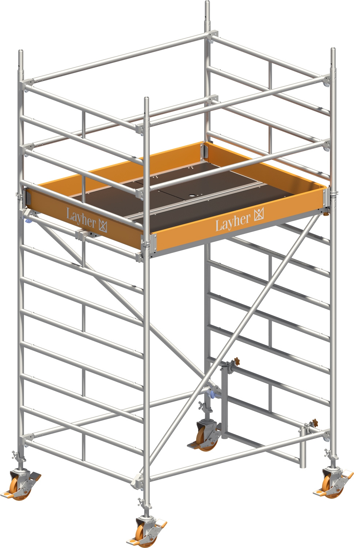 Fahrgerüst Layher Uni Kompakt 5002 mit Geländer-Optimierung
