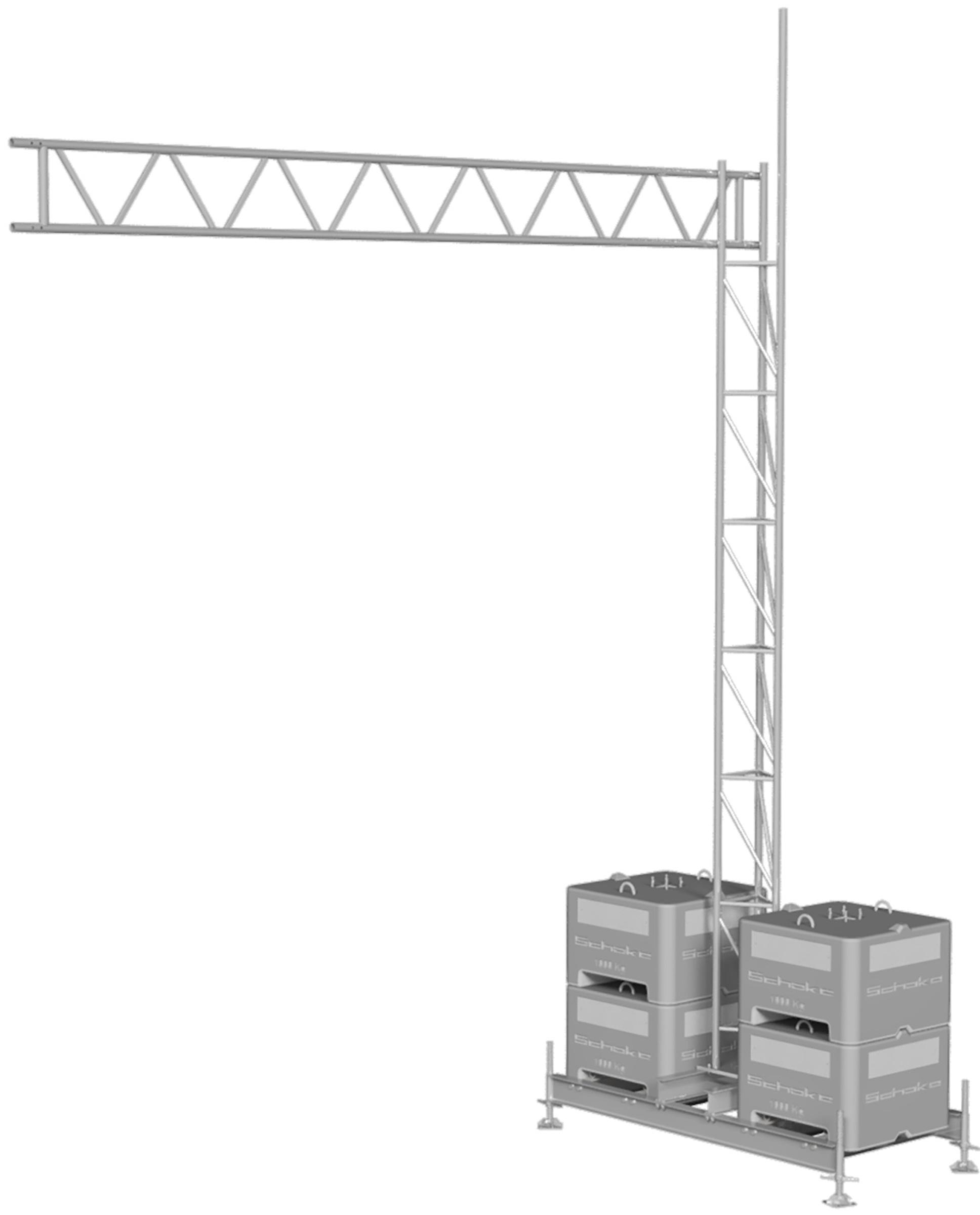 Schake Aufstellvorrichtung Gittermast mit Kragarm
