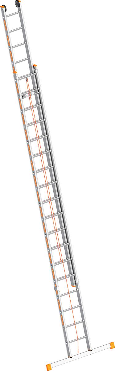 Layher Seilzugleiter Alu 2x18 Sprossen