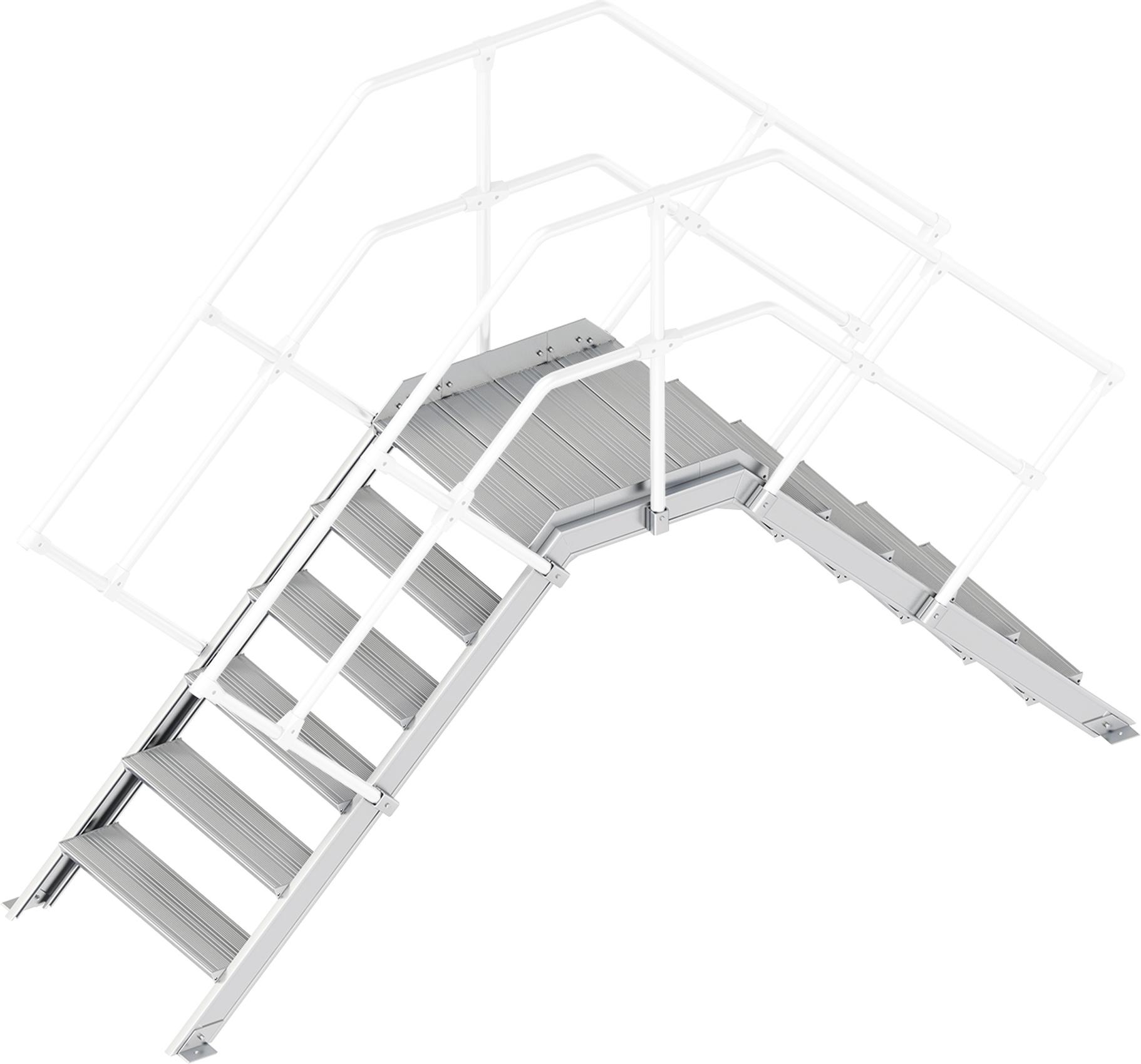 Layher Übergang 45° 6 Stufen - 800 mm breit