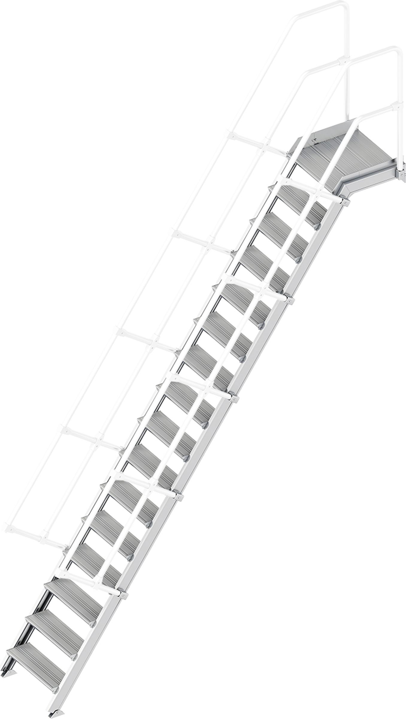 Layher Plattformtreppe 55° 16 Stufen - 600 mm breit