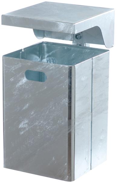 Schake Abfallbehälter rechteckig mit Dach - 40 Liter