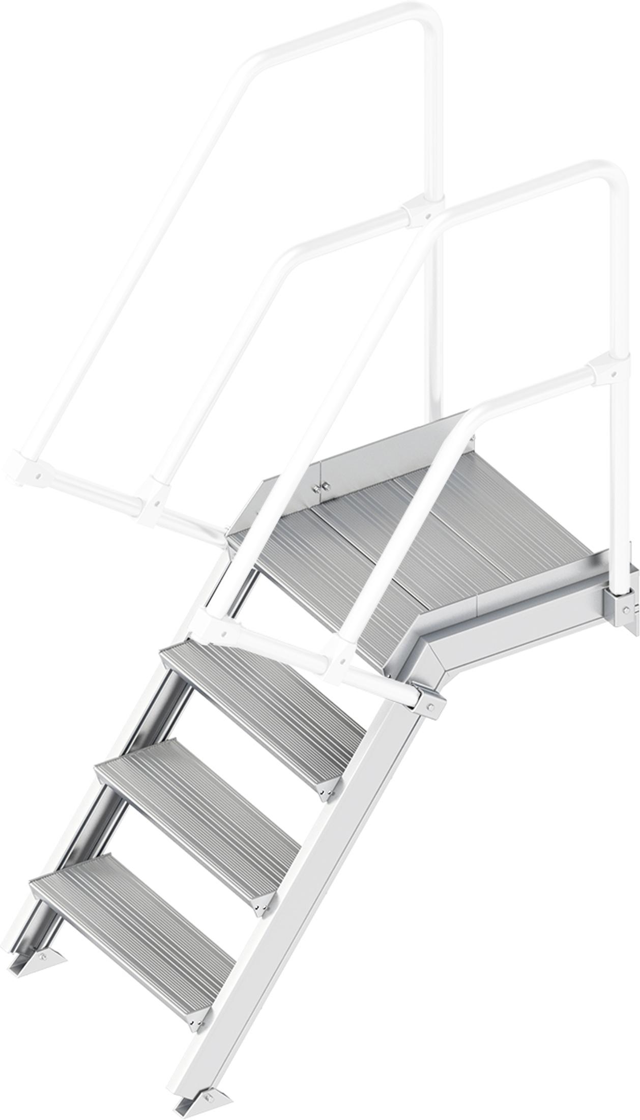 Layher Plattformtreppe 55° 4 Stufen - 600 mm breit