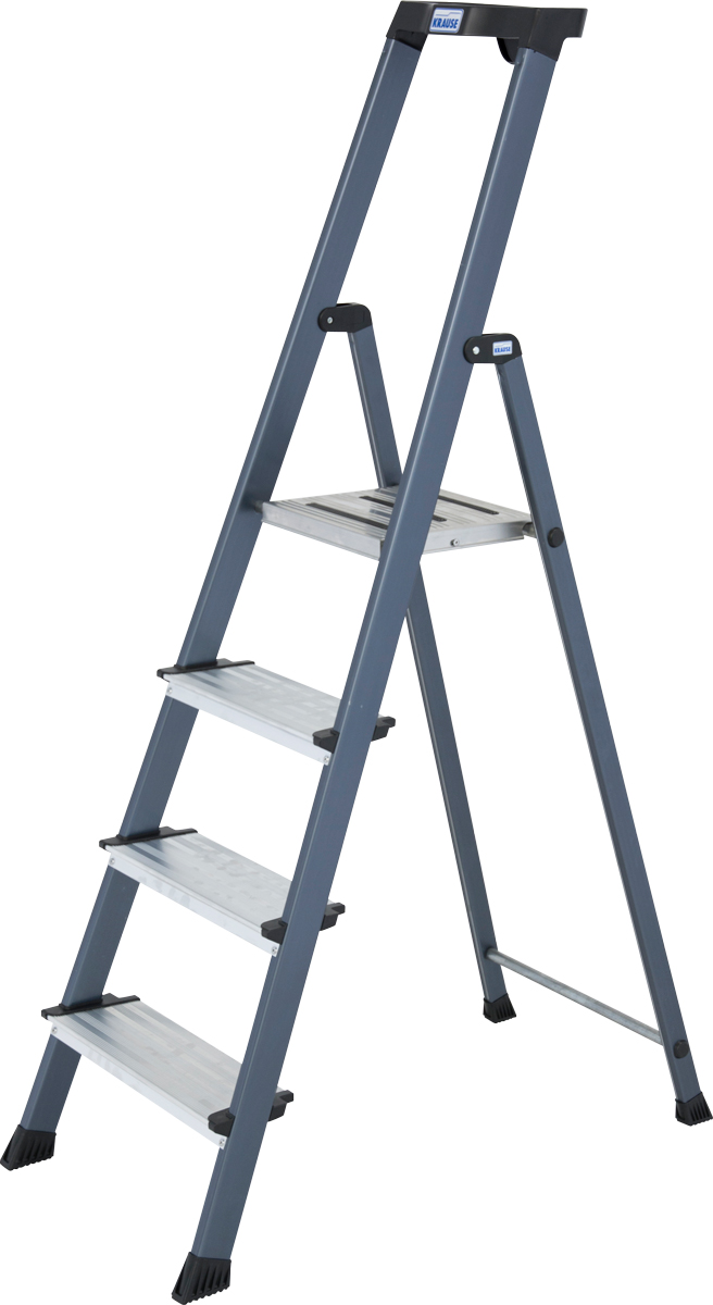 Krause Alu-Stufenstehleiter Securo® eloxiert 4 Stufen