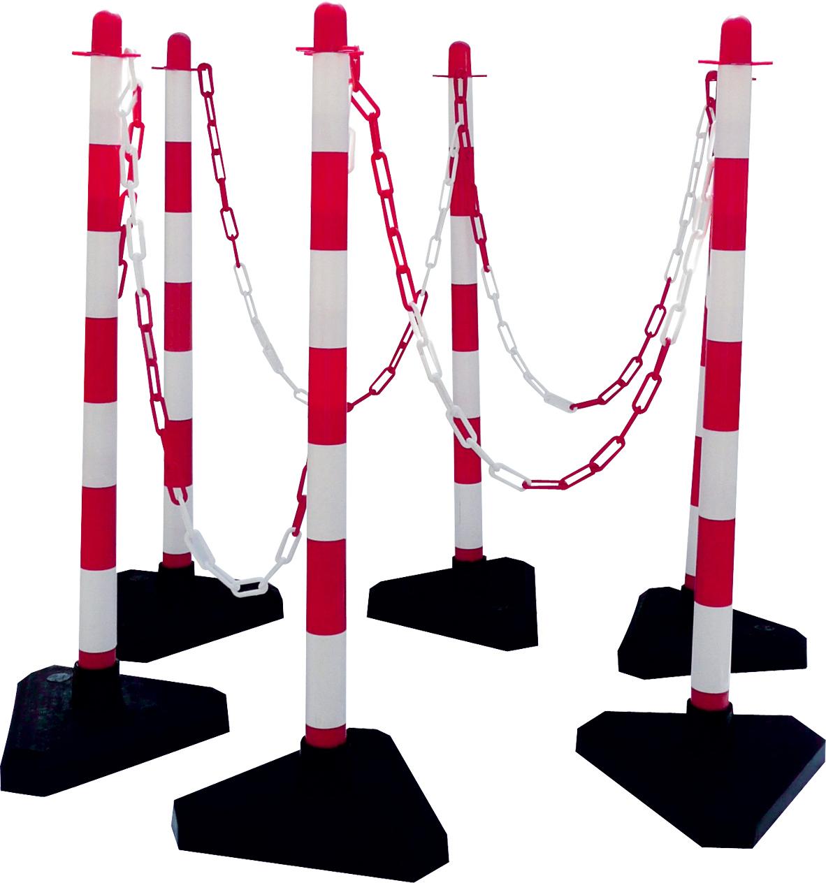 Schake Kettenständer Kunststoff Typ 1 weiß | rot - Set
