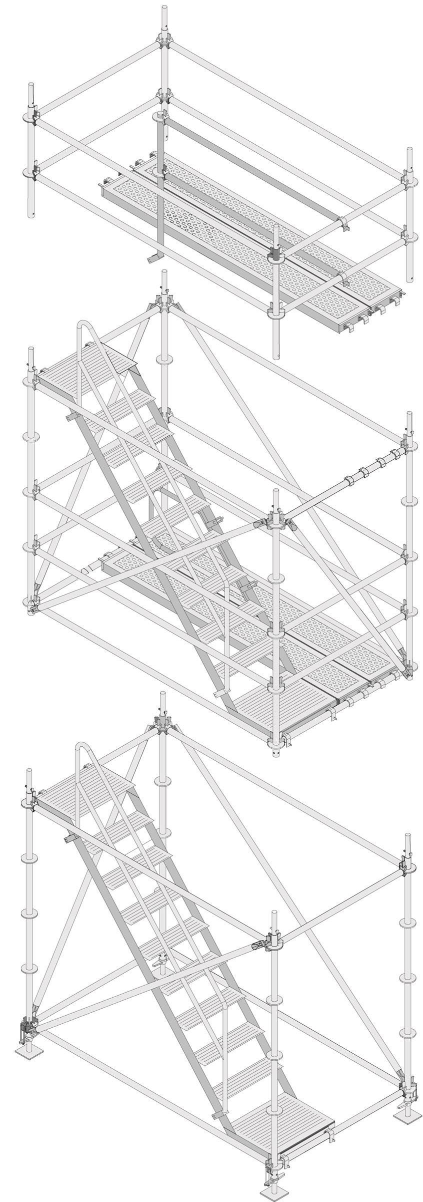 Layher Allround Modultreppenturm Einzelmodule
