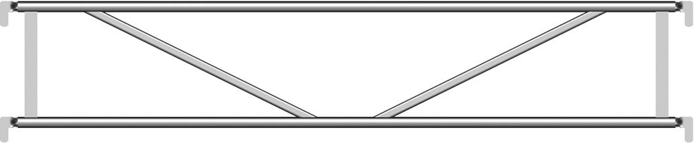 Layher Blitz Alu-Doppelgeländer 2,57 m