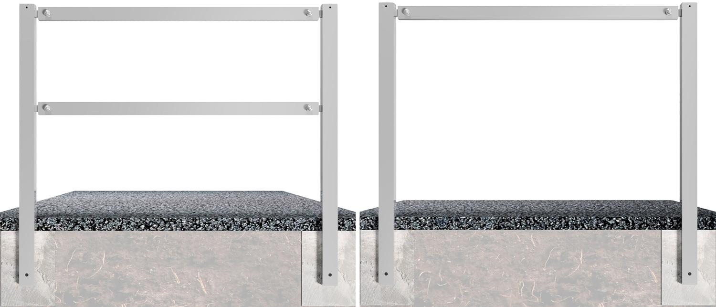 Schake Wegesperre Stahl 70 x 70 mm verzinkt