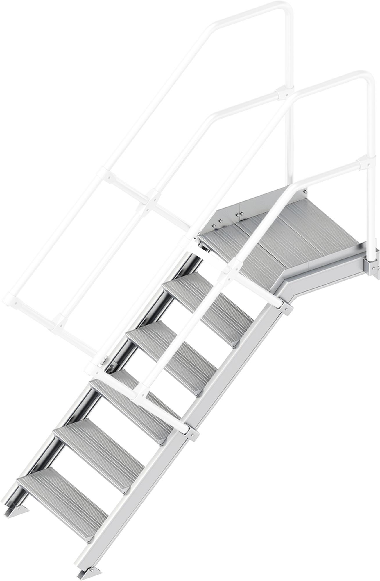 Layher Plattformtreppe 45° 6 Stufen - 600 mm breit