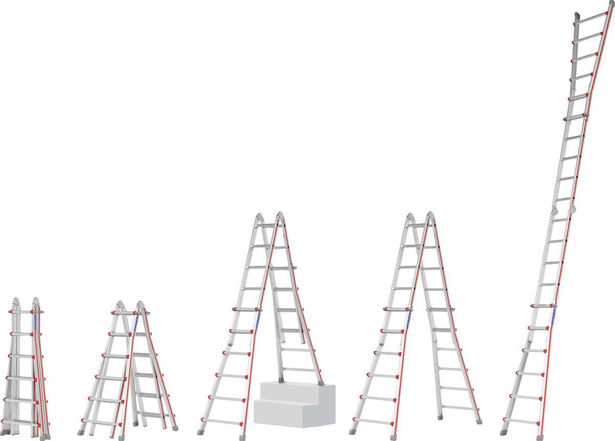 Hymer Teleskopleiter SC 40 Alu 4x4 - 4x6 Sprossen