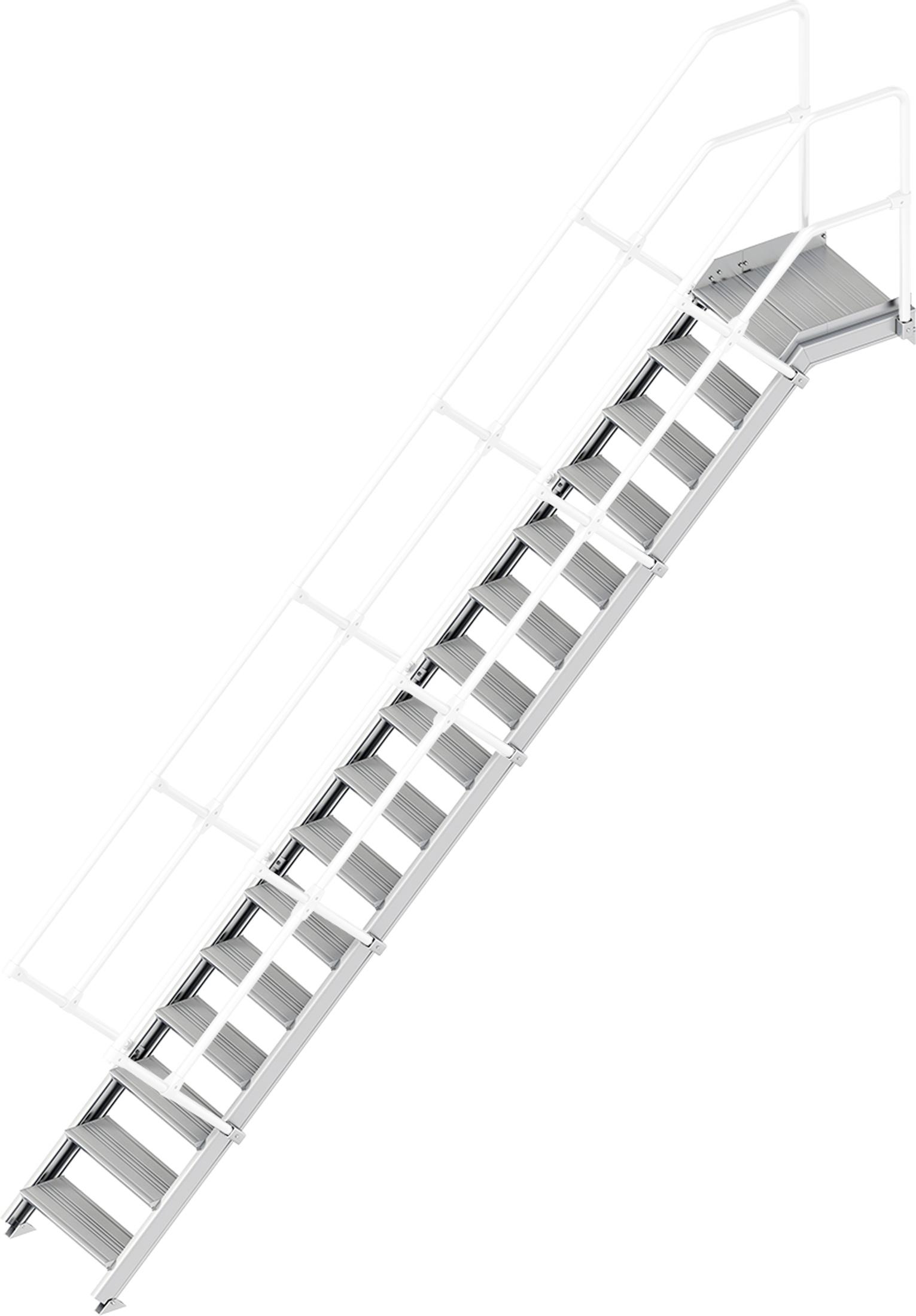 Layher Plattformtreppe 45° 16 Stufen - 600 mm breit