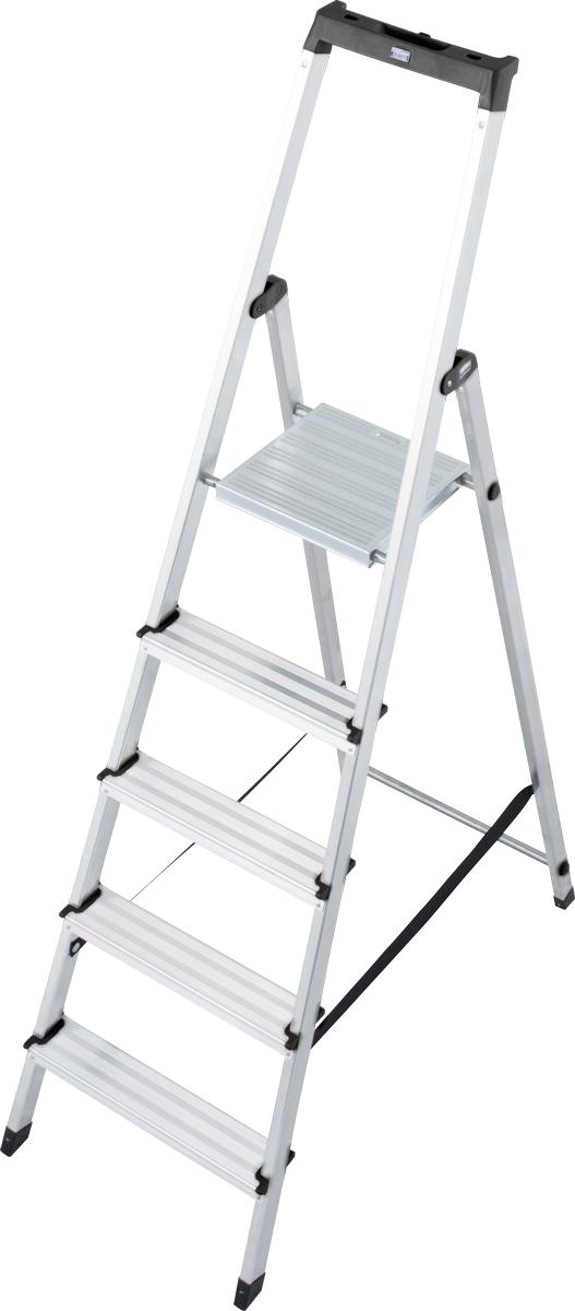Krause Alu-Stufenstehleiter Solidy® 5 Stufen