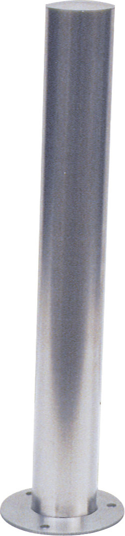 Schake Edelstahlpfosten OD Ø 102 mm Pfosten mit gewölbtem Kopf - ortsfest - für Dübelbefestigung (SK-40103P) Bild-01