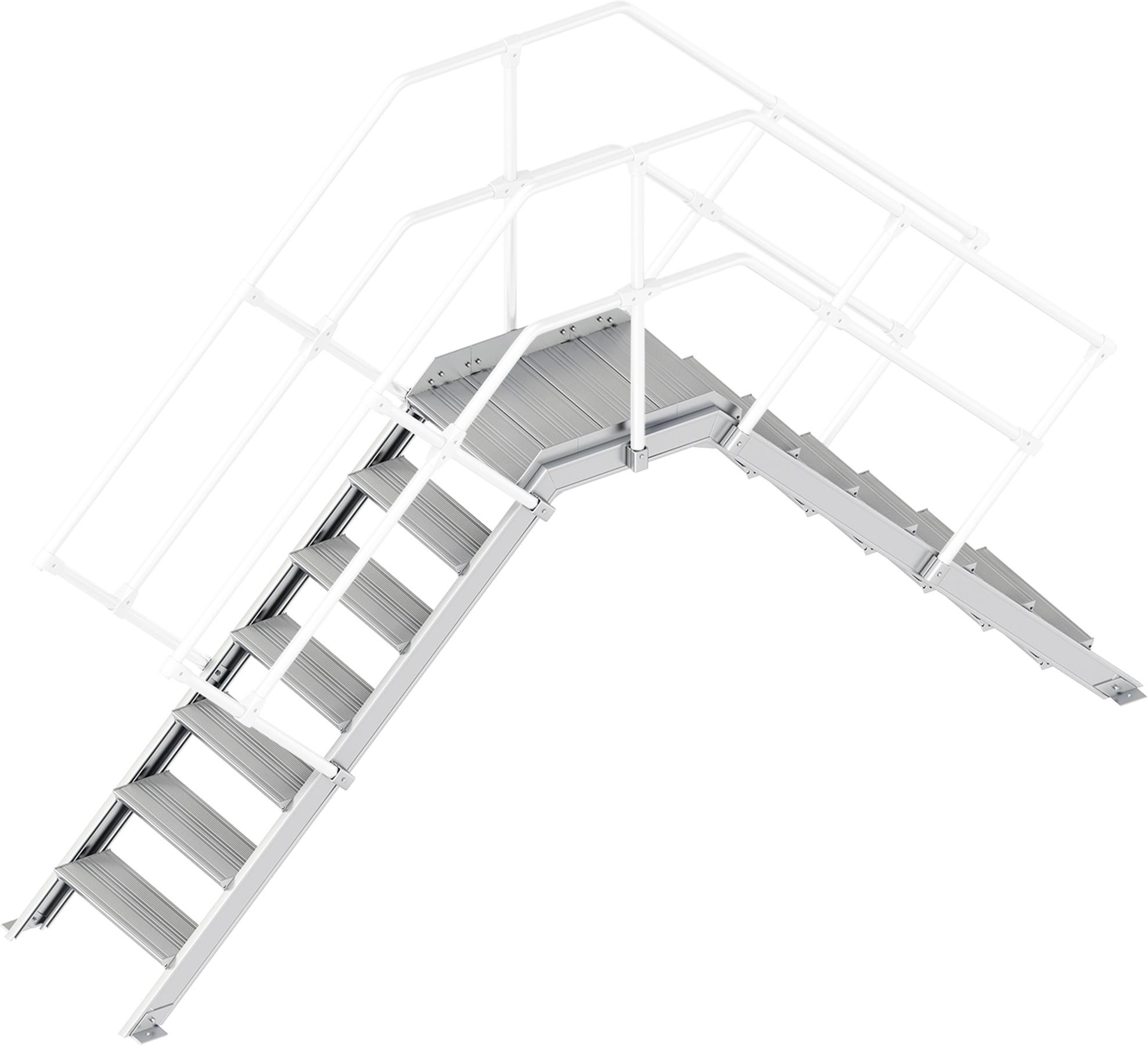 Layher Übergang 45° 7 Stufen - 600 mm breit
