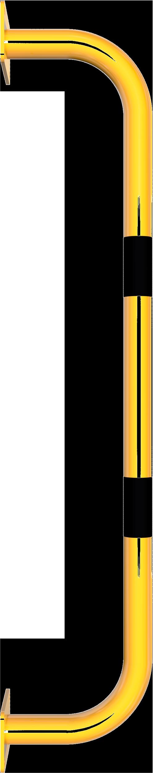 Schake Sicherheitsgriff Stahl Ø 48 mm gelb | schwarz