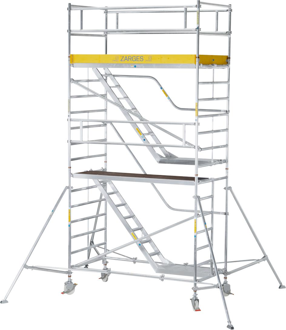 Fahrgerüst ZARGES Treppengerüst MultiTower 2DT 1,35x1,80m - AH 6,45m