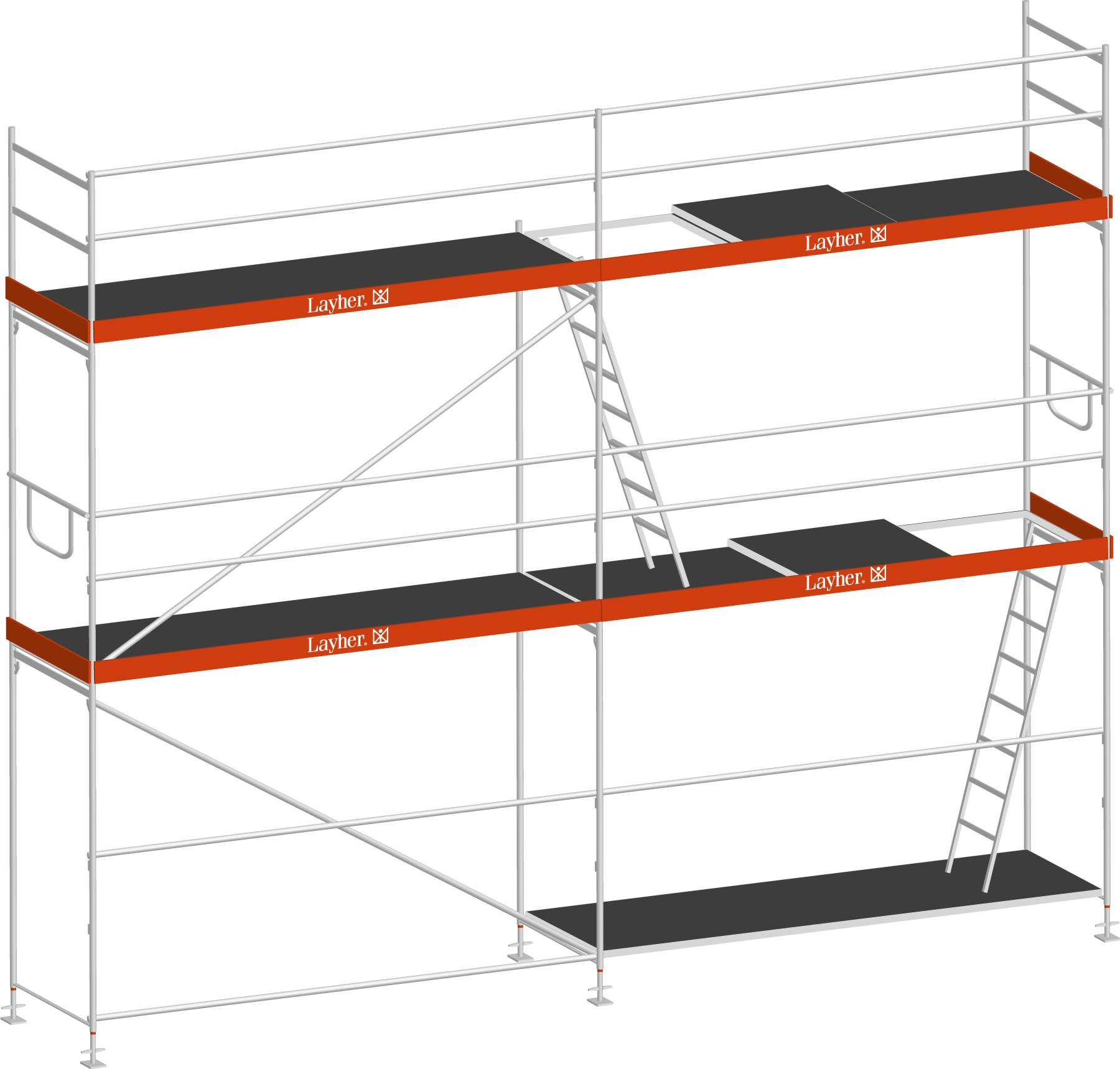 Layher Blitz Gerüst 70 Stahl 32 m²