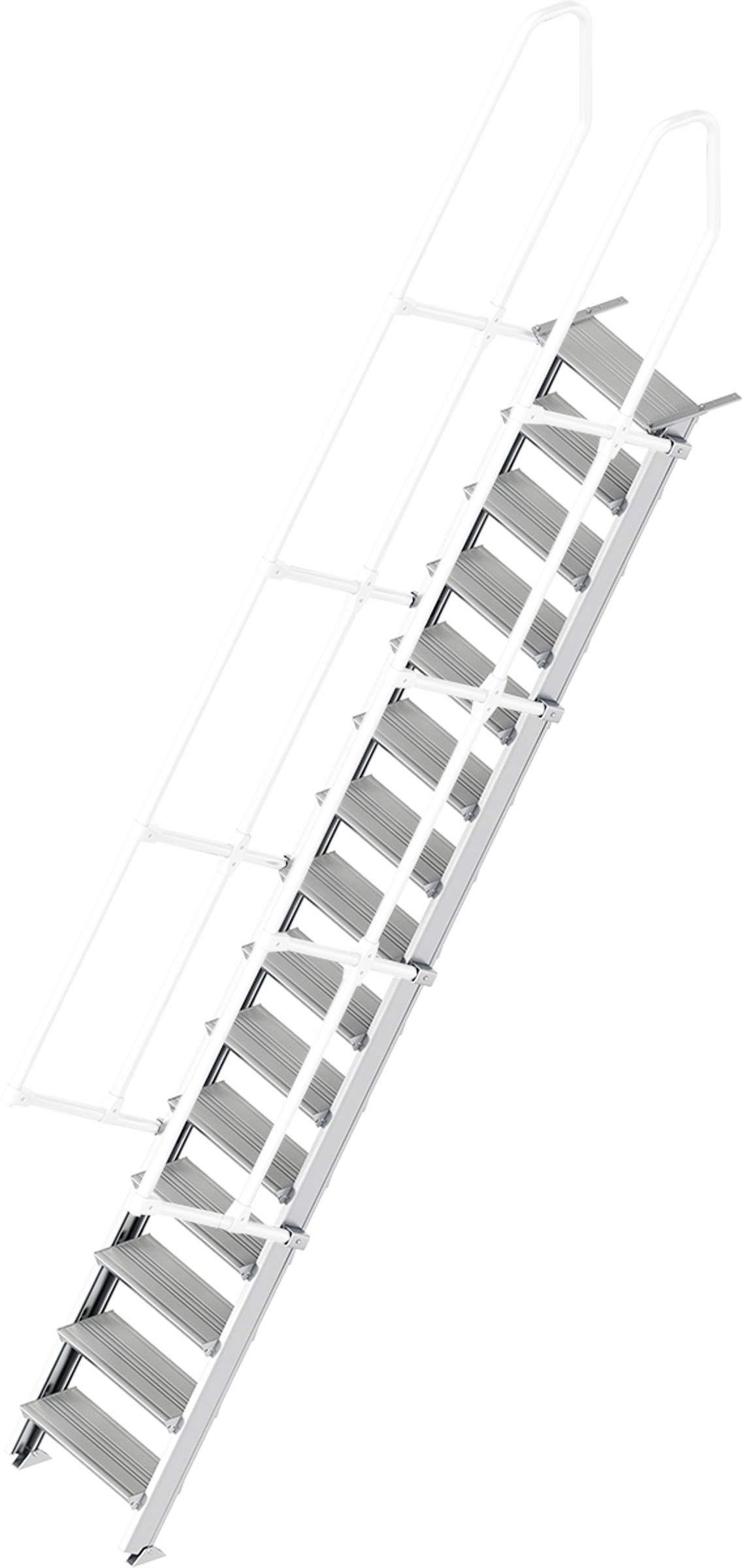 Layher Treppe 60° 15 Stufen - 600 mm breit