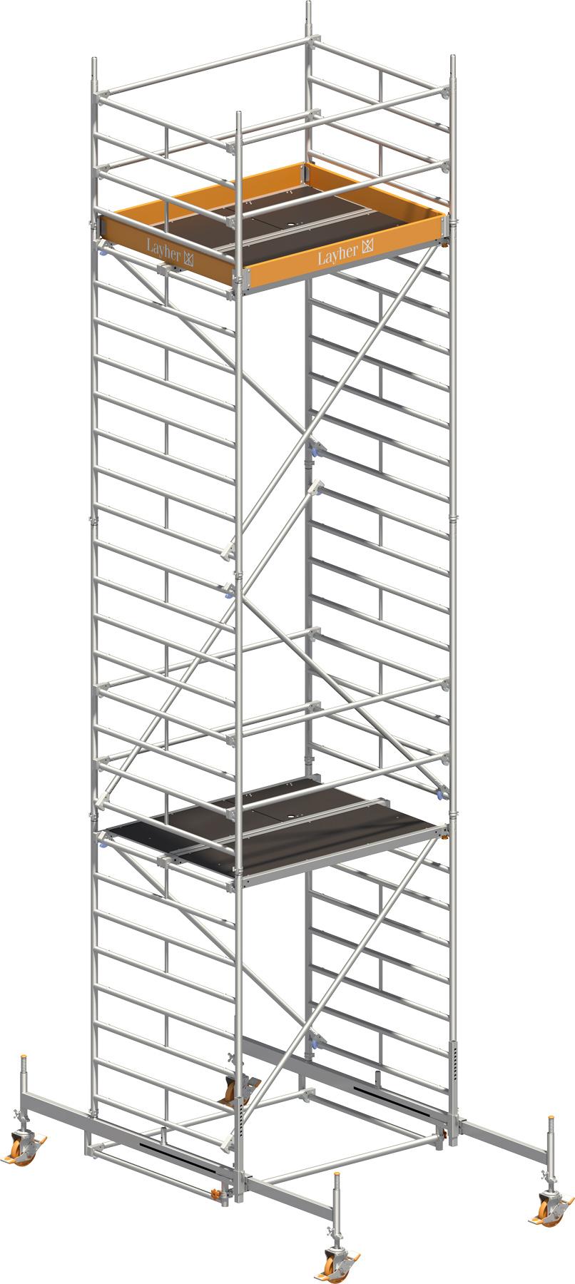 Fahrgerüst Layher Uni Kompakt 5006 mit Geländer-Optimierung