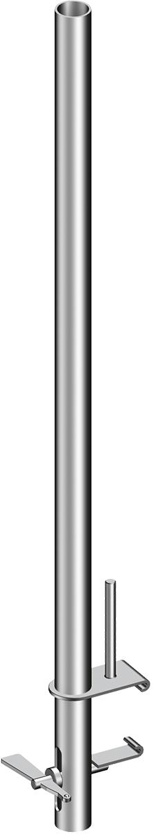 Layher Alusteg Geländer-Befestigungsstiel