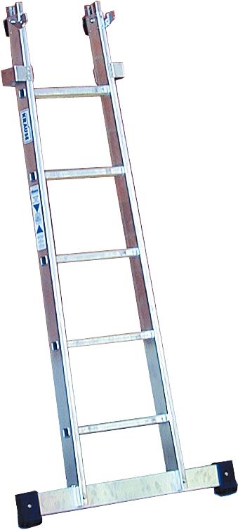 Krause Glasreinigerleiter Einzel-Unterteil 5 Sprossen