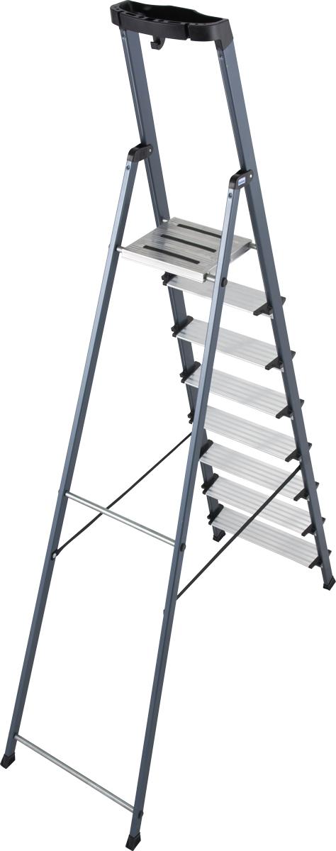 Krause Alu-Stufenstehleiter Securo® eloxiert 8 Stufen