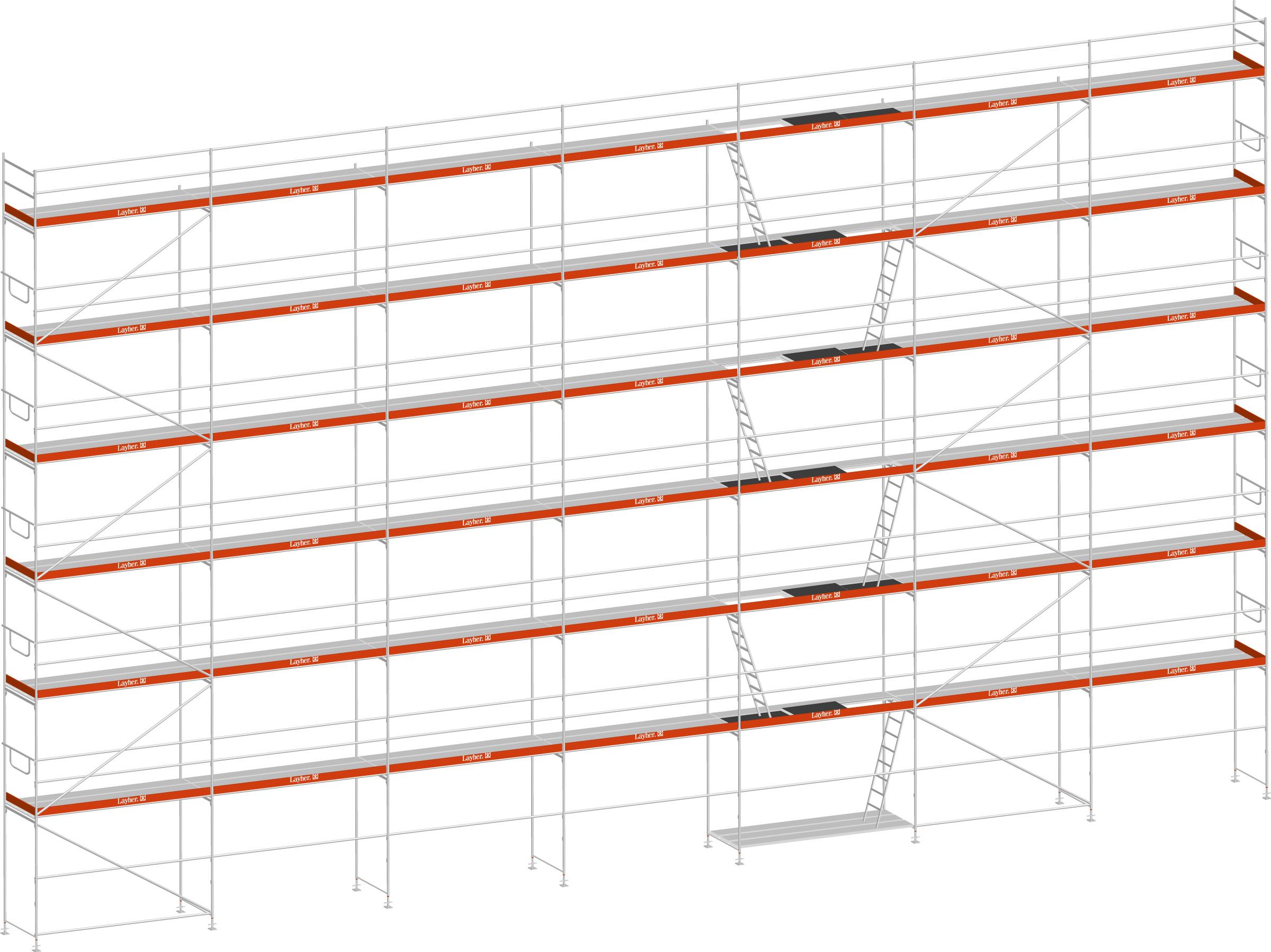 Layher Blitz Gerüst 100 Stahl 256 m²
